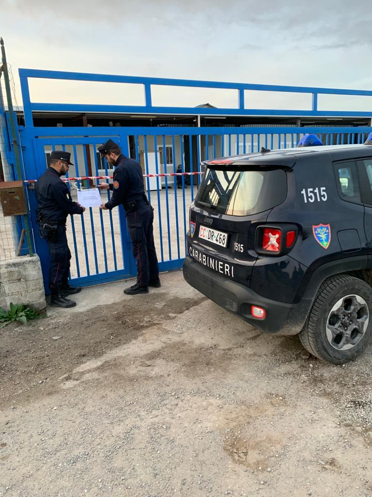 Smaltimento Rifiuti Sessa Aurunca sequestro di un depositi di custodia di veicoli, carcasse e