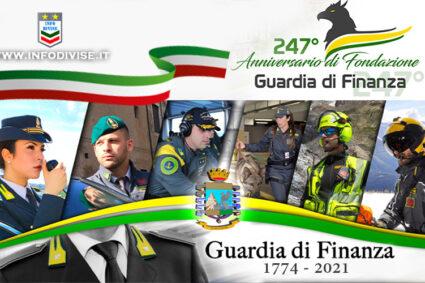 Guardia di Finanza. Oggi, celebrazione del 247° anniversario della fondazione del corpo