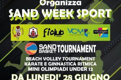 """Tutto pronto per il Sand Week Sport, l'evento promosso da """"Castrum"""" e """"UnioBasket Maddaloni"""""""
